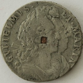 FARTHINGS 1691  WILLIAM & MARY TIN ISSUE VERY RARE