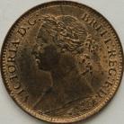 FARTHINGS 1890  VICTORIA  UNC LUS